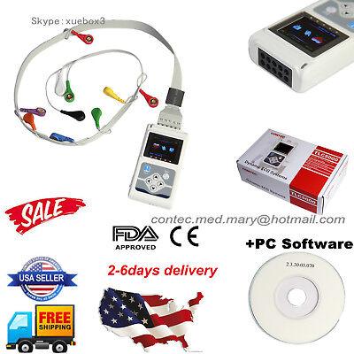 Tlc5000 Ecgekg System12 Channel Holter Monitorrecorder Analyzerpc Swusa
