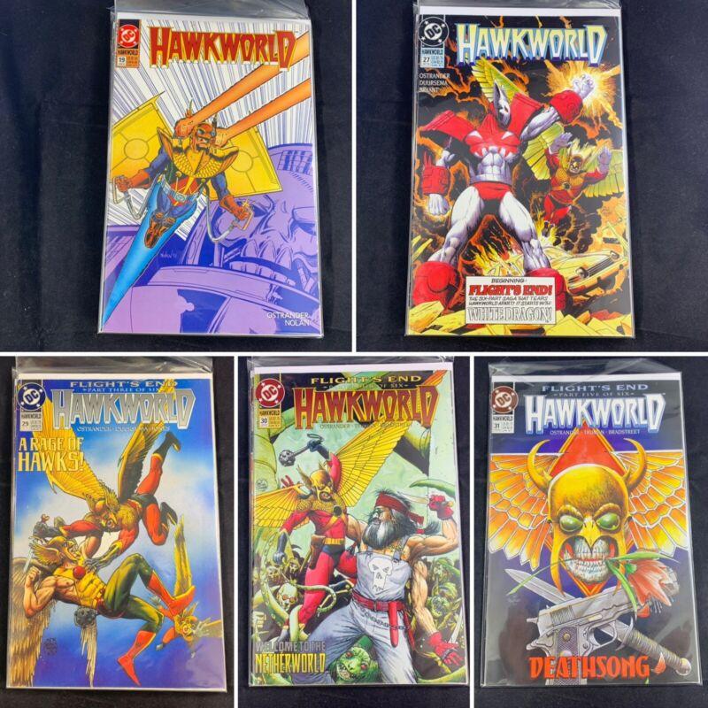 (Lot Of 5) Hawkworld No. 19, 27, 29, 30, 31 DC Comics November 1991