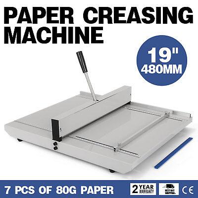19 Manual Scoring Paper Creasing Machine Creaser Scorer Magetic Lock Office