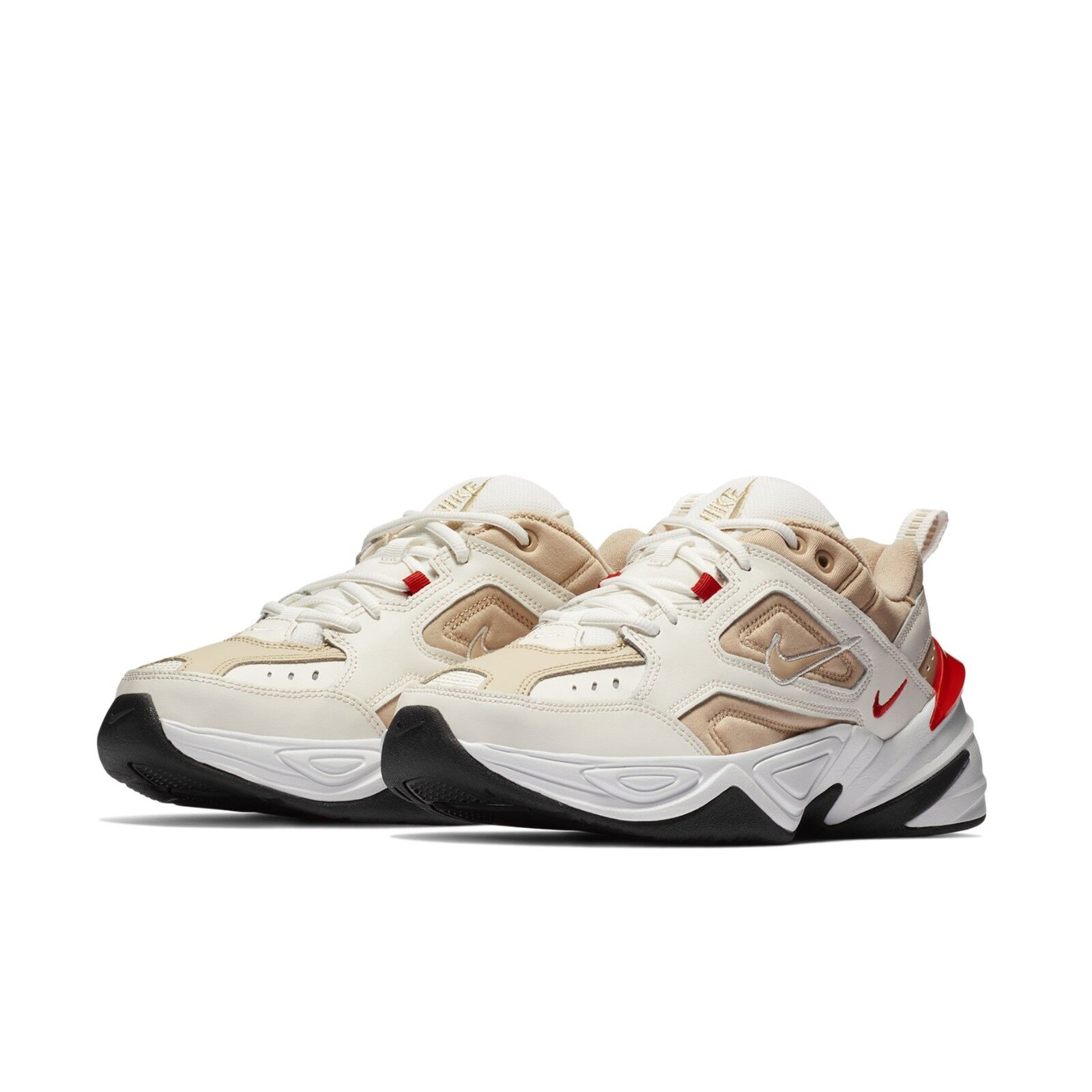 62f20df933654 Details about Nike Mens M2K Tekno Sail Habanero Red Daddy Shoes Chunky  Sneakers AV4789-102