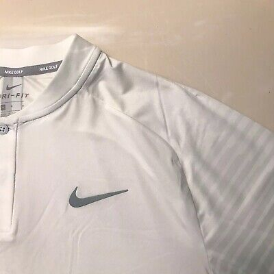 Nike Golf Tiger Woods Cooling Vapor Graphic Sleeve Blade Polo White 943075 100 M