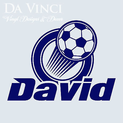 Home Decor Canvas Art Personalized Boy Name Soccer Ball Vinyl Sticker Wall Decal Decoration