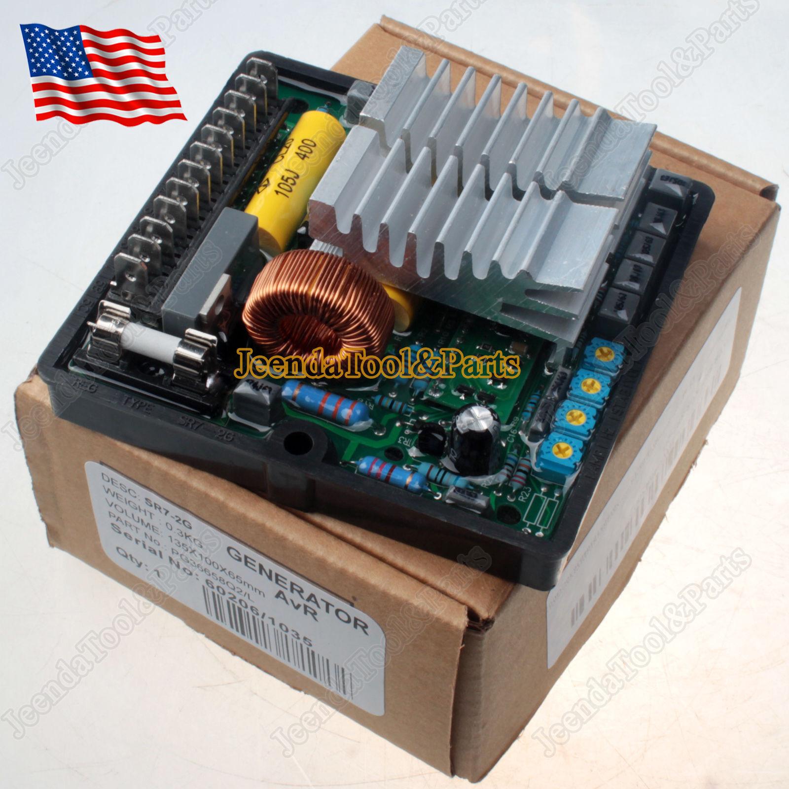 1pc Auto Voltage Regulator AVR SR7-2G For Mecc Alte Generators Practical