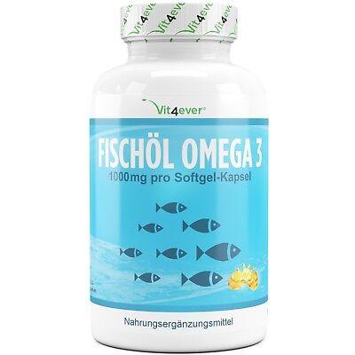 Omega 3 Fischöl 420 Softgel Kapseln 1000mg Lachsöl 18% EPA & 12% DHA Vit4ever - Omega 3 Dha Kapseln