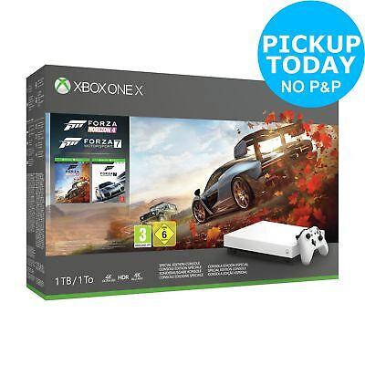 Microsoft Xbox One X White Console 1TB & Forza Special Edition Bundle - White