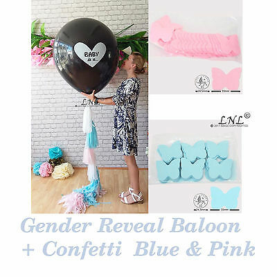 Baby is a.Butterfly Confetti Gender Reveal Balloon Diy Kit Baby Sex Reveal Party (Diy Gender Reveal)