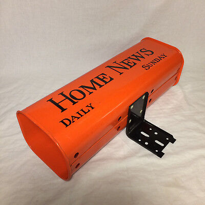 Vintage Old Newspaper Tube Delivery Mail Box Home News Daily Sunday