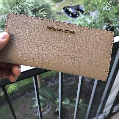 Michael Kors Bifold Leather Long Wallet Women Slim Clutch Card Case Holder Purse