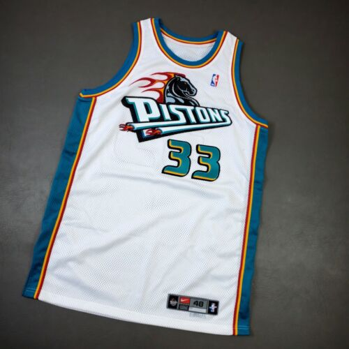 """100% Authentic Grant Hill Nike 99 00 Detroit Pistons Game Issued Jersey 48+4"""""""