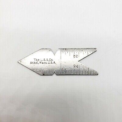 Vintage The Lss Co Steel Ruler Center Thread Gauge Gage Starrett Fish Tail Usa