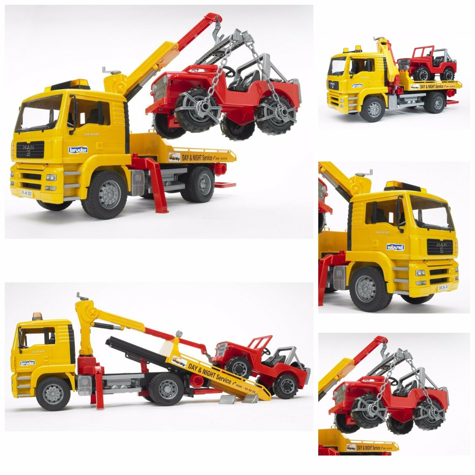 Pickup Truck Crane Rc Tow Truck Toy Vehicles For Boys Tow Tr