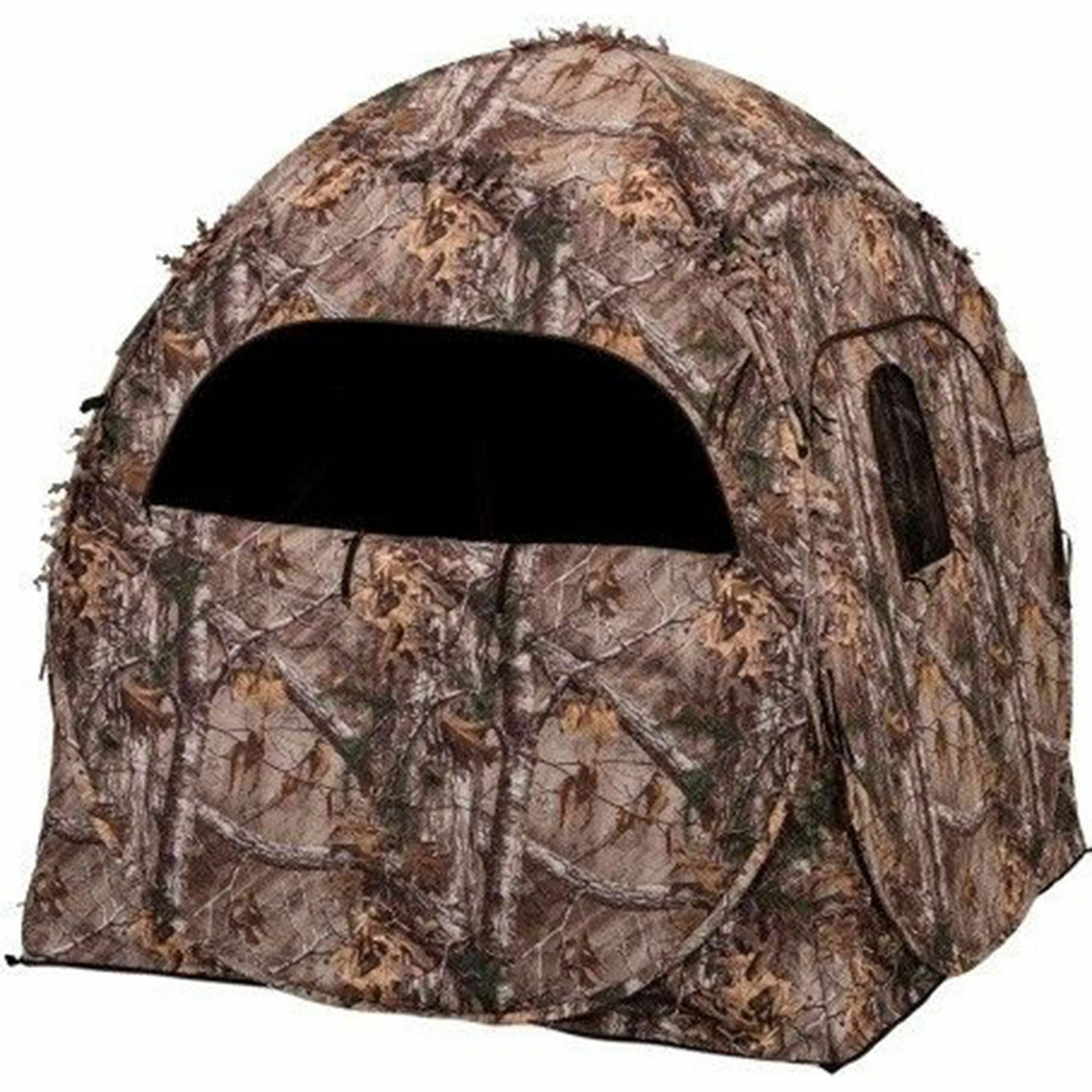 Ameristep Doghouse Spring Steel Ground Hunting Blind Realtree XTRA Camo,1RX2S010