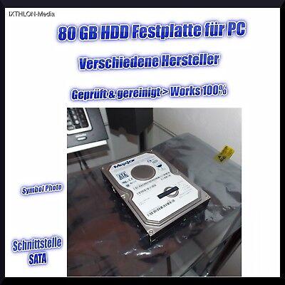 80gb 7200rpm Sata Festplatte (80GB FESTPLATTE - SATA - 3.5 Zoll - 7200RPM - HDD - z.b. TOSHIBA, MAXTOR)