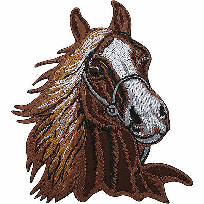Horse Patch Embroidered Badge Iron On / Sew On Pony Riding Equestrian Clothes