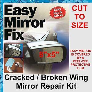 Car wing door mirror repair kit easy mirror fix 8 x5 for Mirror repair kit