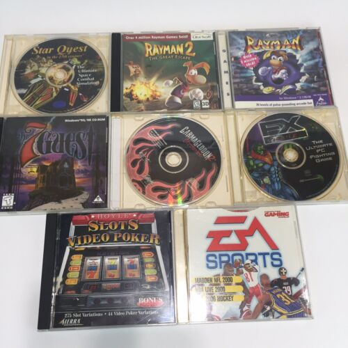 Computer Games - Lot of 8 Assorted CD computer video games