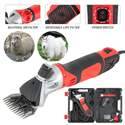 Red 6 Speed Electric Supplies Sheep Goat Shears Animal Shearing Grooming Clipper