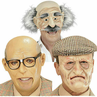 Old Man Grandad Grandpa Halloween Costume Disguise Elderly Senior Pensioner Mask - Old Men Costume