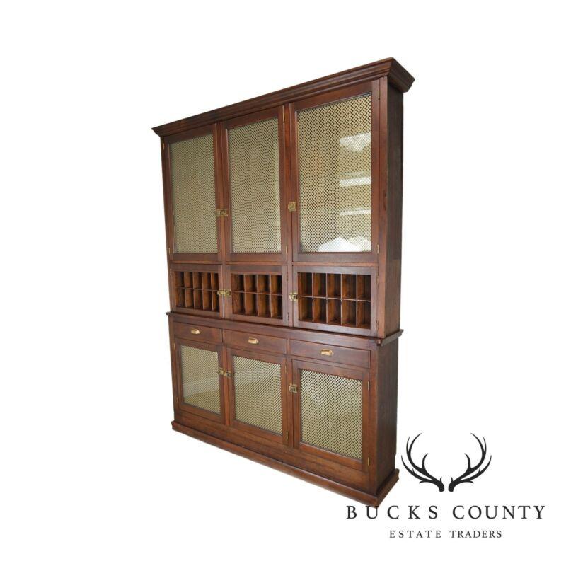 Antique Walnut Large Back Bar General Store Cabinet