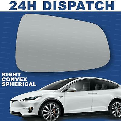Right Driver side Convex wing mirror glass for Tesla Model X 2015-2020