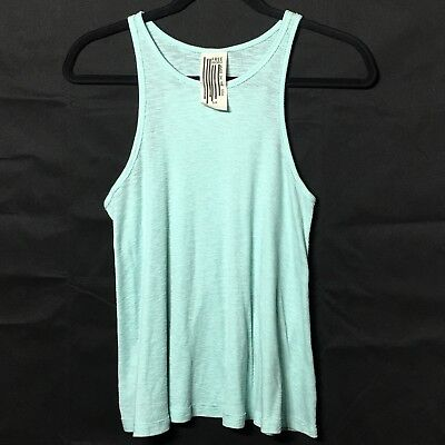 FREE PEOPLE tank top women's size S petite Baby Blue Comfy Flowy