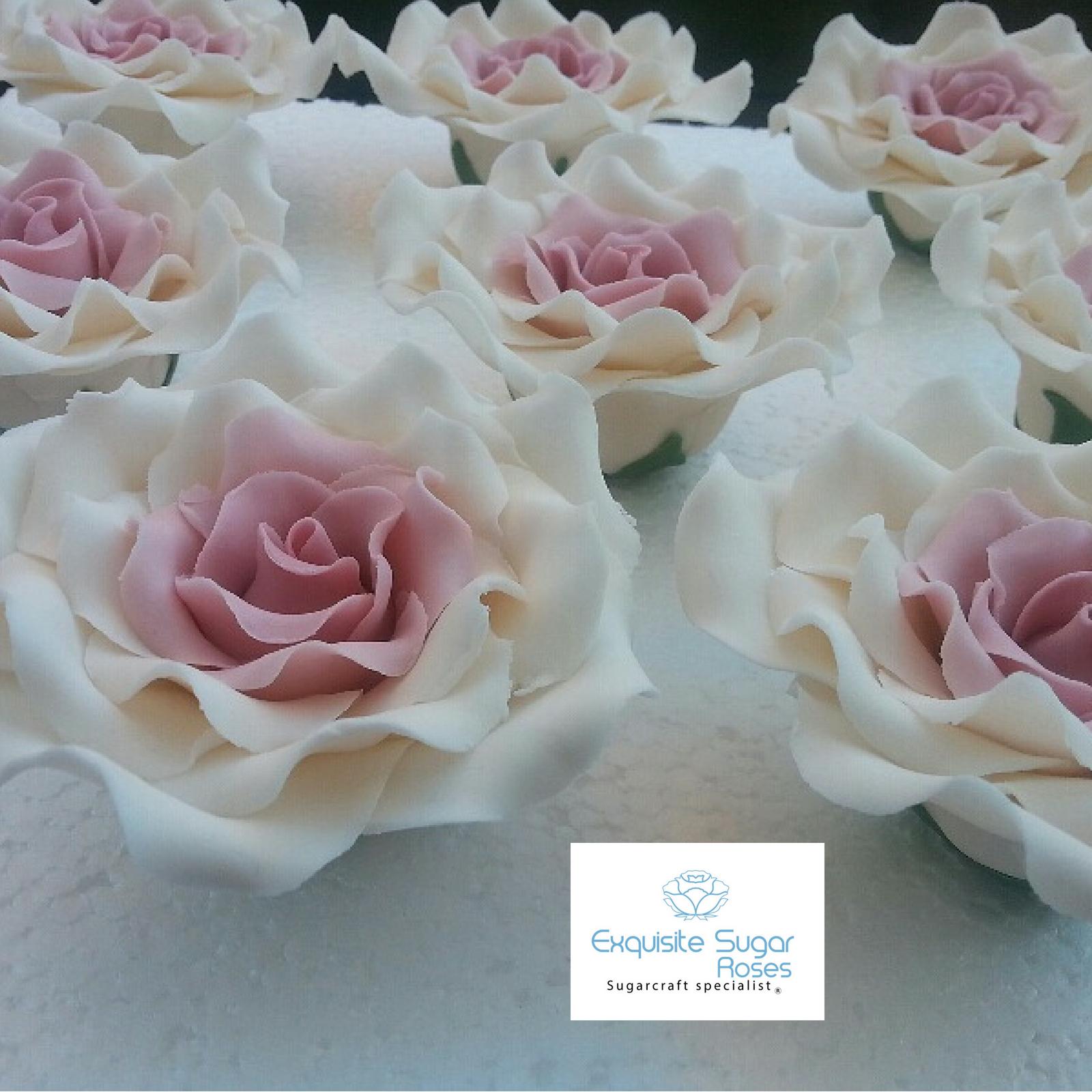 Sugar Roses Wedding Birthday Cake Topper Flower Decoration Multi Buy Pay 1 P P Ebay