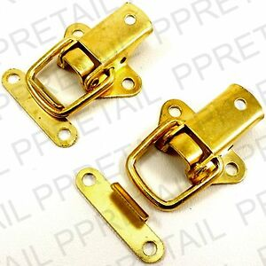 2 x BRASS TOGGLE CASE CATCH Boxes/Chest/Trunk/Tool Box/Suitcase/Clasp Latch