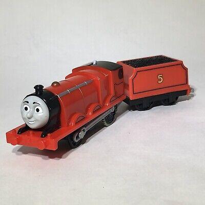 2013 Thomas & Friends James #5 Mattel Trackmaster Motorized Train Car Works!