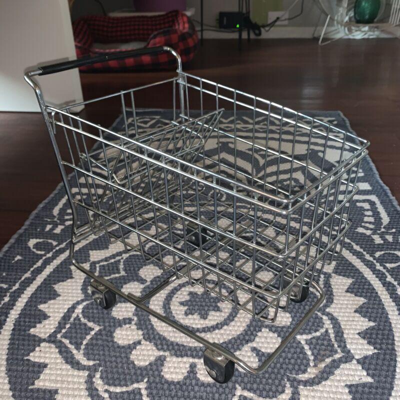 Mini Metal Shopping Grocery Cart Basket Planter Kitchen Decor DIY Crafting Toy