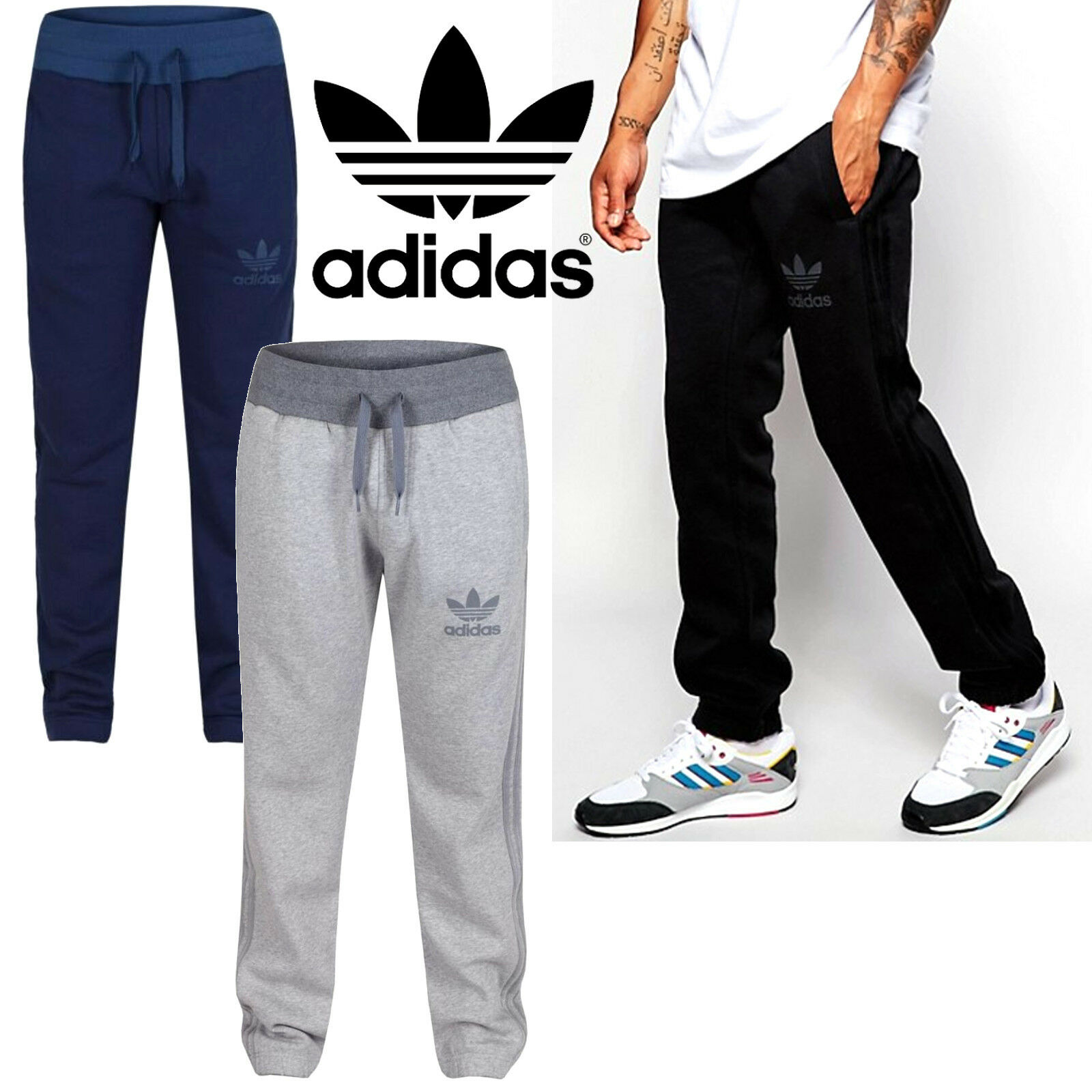 Details about adidas Originals SPO Trefoil Sweatpants Mens Tracksuit Trousers Sports Bottoms