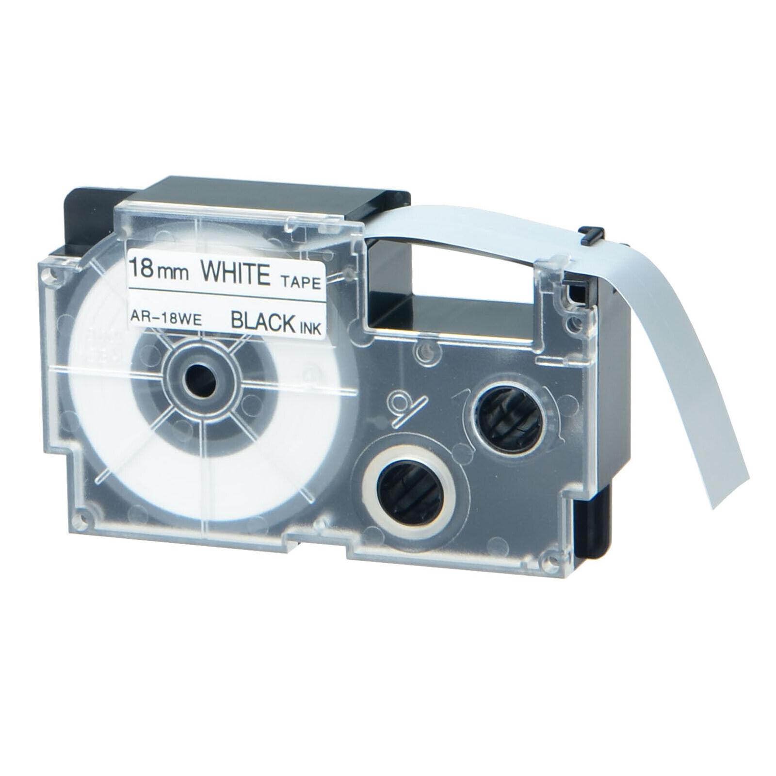 "XR-18WE 3//4/"" x 26/' Label Tapes Black on White Compatible for KL-750B 750BA 8100"
