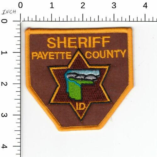 PAYETTE COUNTY SHERIFF IDAHO POLICE PATCH ID