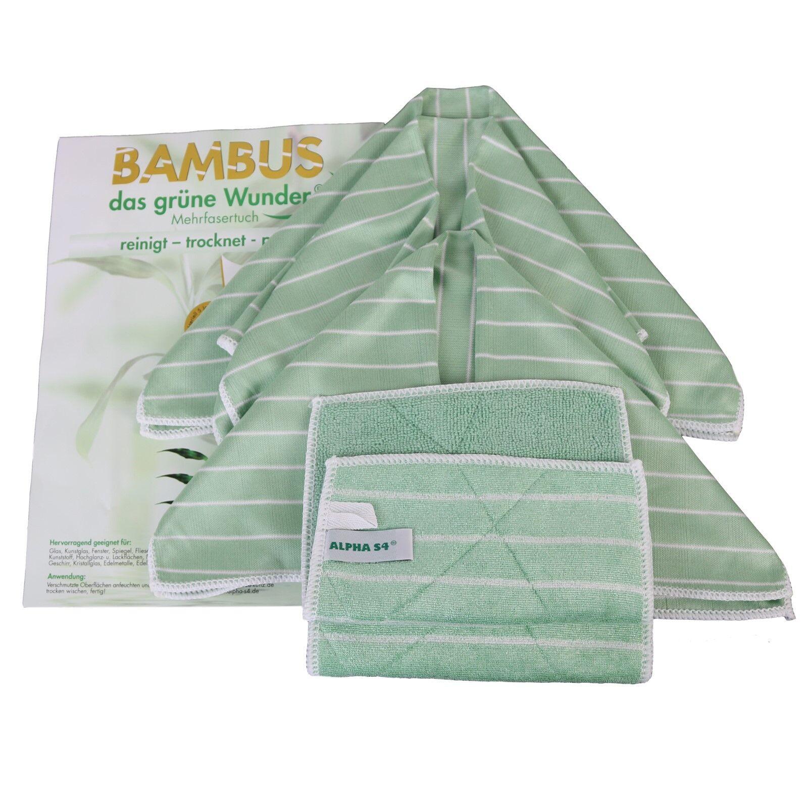 Bambus Reinigungstücher Alpha S4 5 tlg. Set das Grüne Wunder der Putzlappen