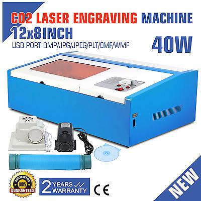 220V Laser Gravierfräsmaschine Engraver Cutting Machine 40W CO2 USB