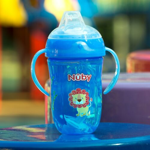 Nuby Comfort 360° Plus+ Trainer Sippy Cup - 4+ months - Blue or Red - BPA Free