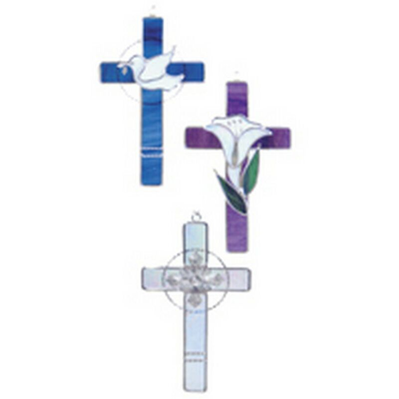 Stained Glass Supplies - PRE-CUT THREE CROSSES KIT