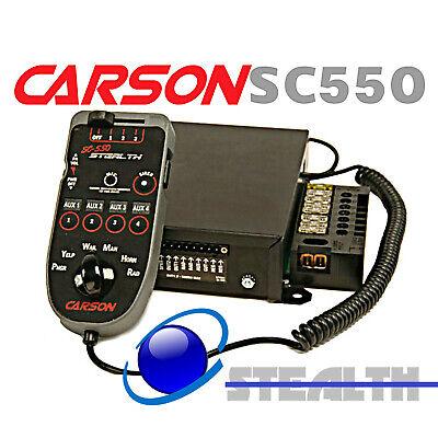 Carson SC-550 200w Hand Held Siren 140 amps of Light & Accessory Control