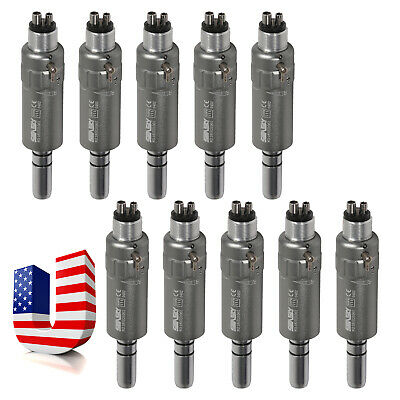 10 Dental Slow Low Speed Air Motor Micromotor 4 Hole Handpiece E-type Fit Nsk P4