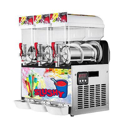 Commercial 3 15l Tanks Ice Slushy Machine Margarita Frozen Drinks Machine