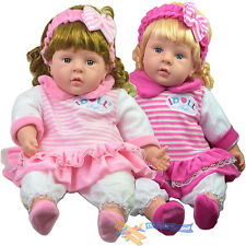 """24"""" Lifelike Large Size Soft Bodied Chubby Baby Doll Girls Boys Toy With Sounds"""
