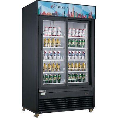 New Dukers Dsm-40sr Commercial Glass Sliding 2-door Merchandiser Refrigerator