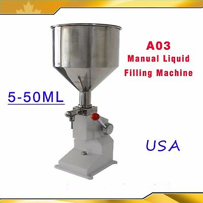 A03 Model 5-50ml Manual Liquid Filling Machine Cream Paste Shampoo Cosmetic