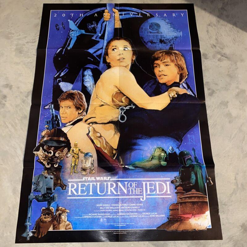 Star Wars Return of the Jedi Russell Walks Art Poster!!  Folded!!!!
