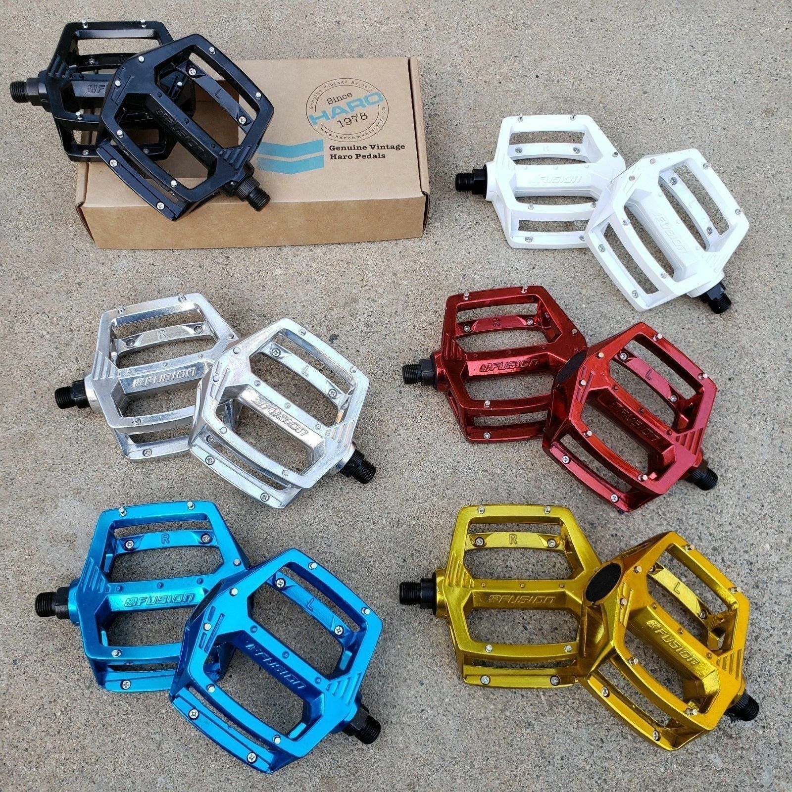 HARO FUSION PEDALS 9/16 FOR 3 PC CRANKS BMX BIKE BICYCLE PED