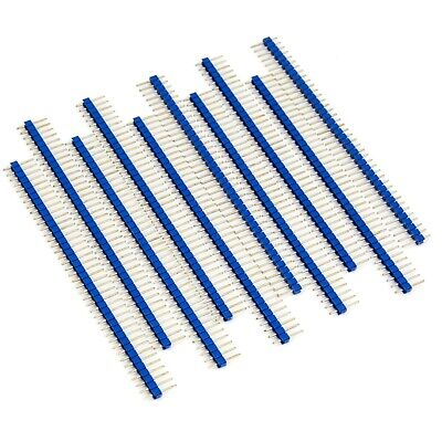 10pcs Male Header 1x40 2.54mm 40 Pin Pcb Through Hole Arduino And Pi Blue