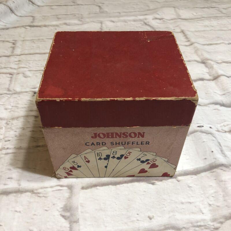 Vintage 1950s Nestor Johnson Mfg Co CHicago Pat Pend Card Shuffler, Made USA