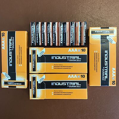40 x Duracell AAA Industrial Procell Alkaline Batteries LR03 MN2400 Expiry 2023