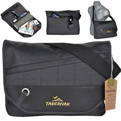 Schwarz Canvas-tasche (TABERNAK Umhängetasche MILTON Messenger A4 Laptop Tasche Canvas Cotton SCHWARZ)