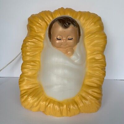 General Foam Plastics Vintage Baby Jesus Blow Mold, Christmas Nativity