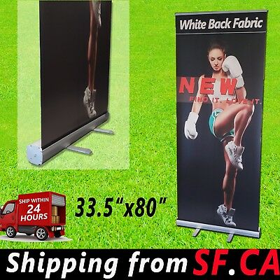 33.5x80 Standard Aluminum Retractable Roll Up Banner Stand Trade Show Display